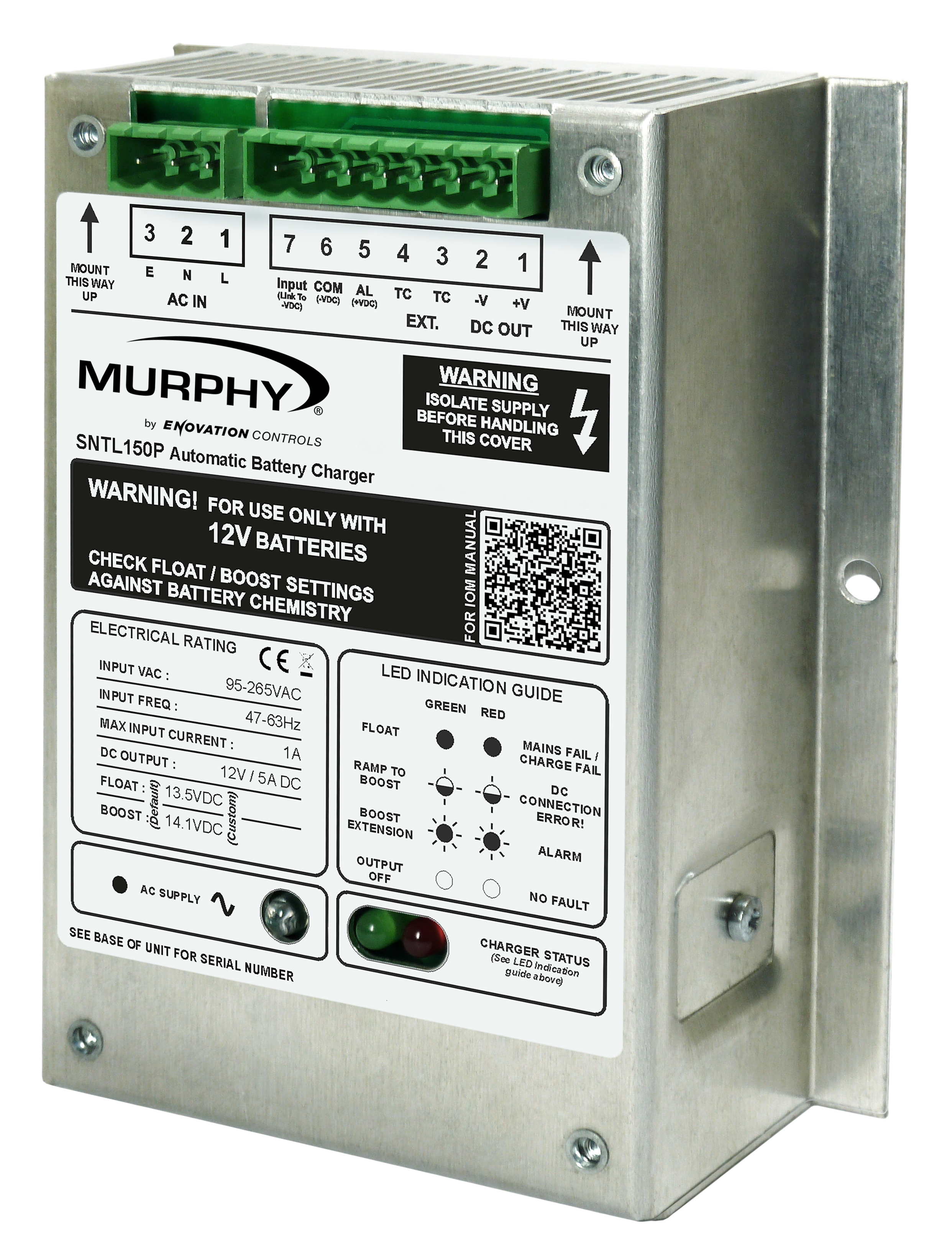 Sentinel 150p Series Murphy By Enovation Controls Automatic Battery Charger